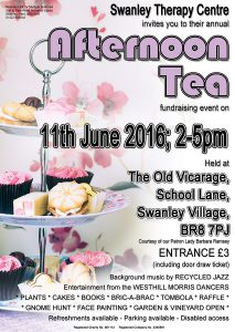 Afternoon Tea at Swanley Therapy Centre