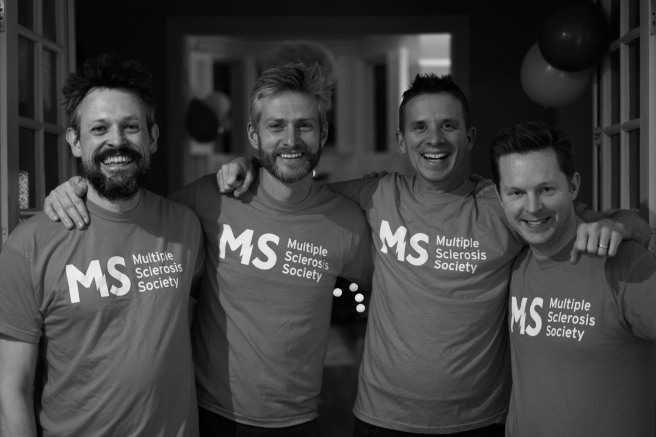 Adam Hamner and friends supporting the MS Society, Adam is riding in the Ride London event