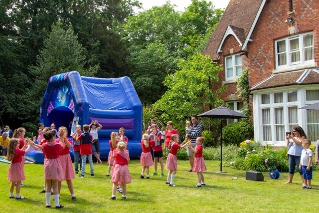 Swanley Village School performing country dancing