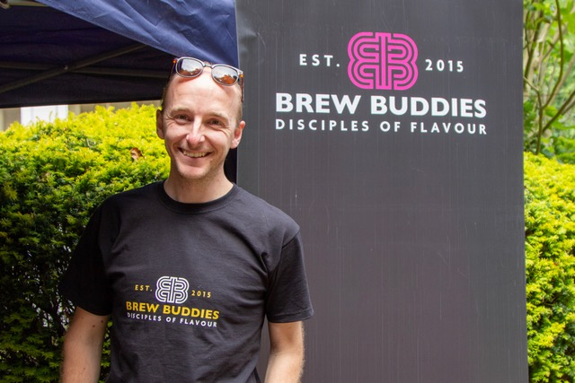 Simon from Brew Buddies at the Beer Tent