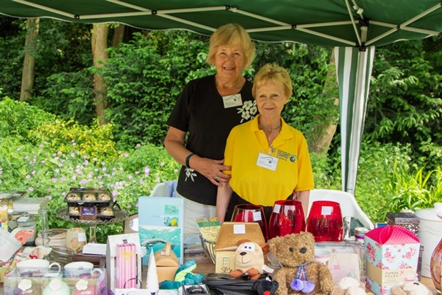 Volunteer Maureen and Deputy Manager Julie on the Bric-a-Brac stall